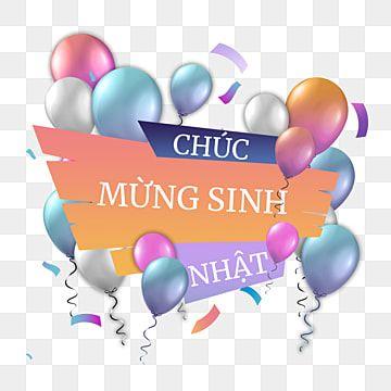 بطاقة تهنئة فيتنامية ملونة اللون بالون بالونات عيد الميلاد Png وملف Psd للتحميل مجانا Happy Birthday In Russian Vietnamese Greetings Happy Birthday