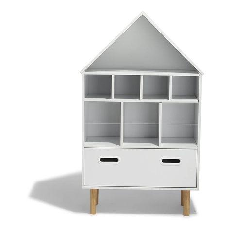 Soldes 2020 Etagere Kiddoz Blanche 1 Tiroir 8 Niches Bibliotheque Et Etagere Salon Meuble Gifi Meuble Gifi Etagere Etagere Salon