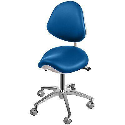 Sponsored Ebay Saddle Chair Adjustable Dental Stool Blue Mobile Backrest Clients Waist Nurse Saddle Chair Medical Stool Dental Doctor