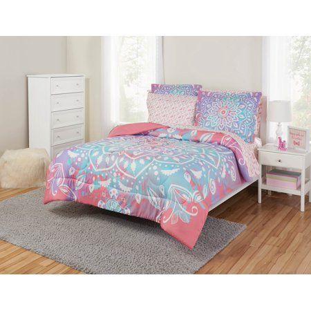 Your Zone Reversible Mandala Medallion Coordinated Bedding Set Walmart Com Bedding Set Complete Bedding Set Bed Linens Luxury