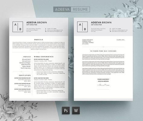 Transitional Two Pages Resume Pack by SNIPESCIENTIST on - can a resume be 2 pages