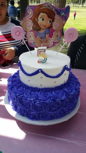 Sofia the first birthday cake cakes Pinterest Birthday cakes