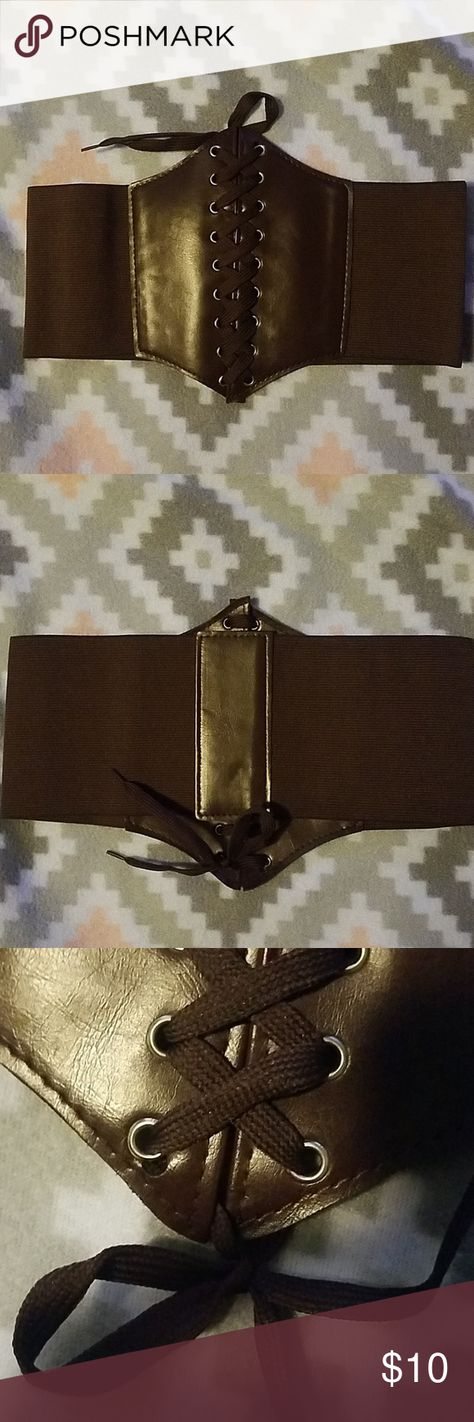 3604d69290 Sz S corset belt In brown Amazon Accessories Belts