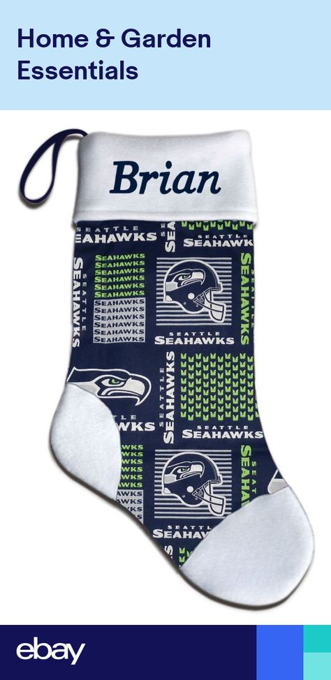 d606345d6 Personalized NFL Seattle Seahawks Football Christmas Stocking Embroidered