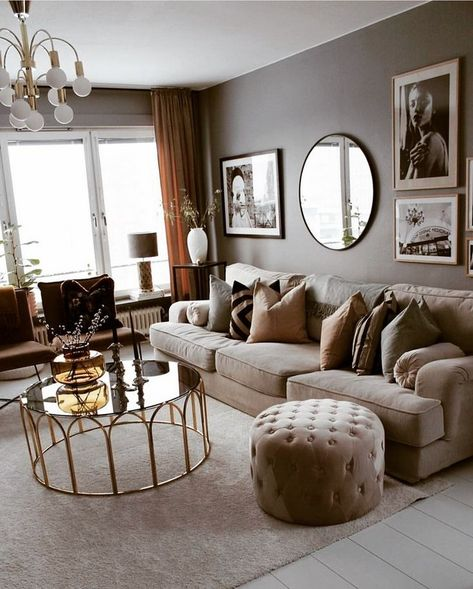 Apartment decorating living room modern color schemes 45