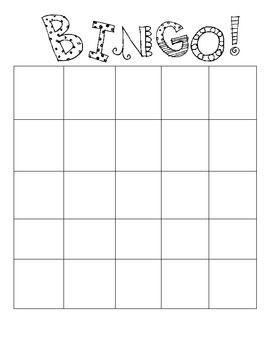 Bingo Board Template Blank Bingo Board Bingo Card Template Bingo Template