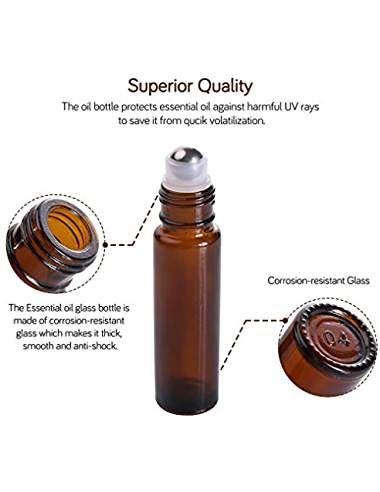 Essential Oil Roller Bottles 10ml Amber Glass 12pack 2 Extra Roller Balls 24 Labels Opener Essential Oil Roller Bottle Essential Oil Roller Essential Oils