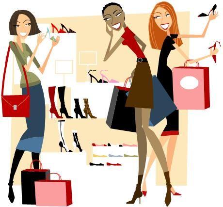 106 best illustration shopping images on pinterest clip art rh pinterest com black woman shopping clipart woman with shopping bags clipart