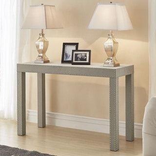 Tremendous Emery Beige Linen Nailhead Trim Sofa Table By Inspire Q Bold Short Links Chair Design For Home Short Linksinfo