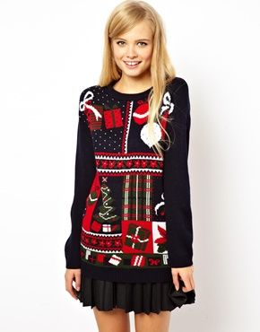 ASOS Vintage Look Holiday Sweater. Cute Holiday Sweater Party Material