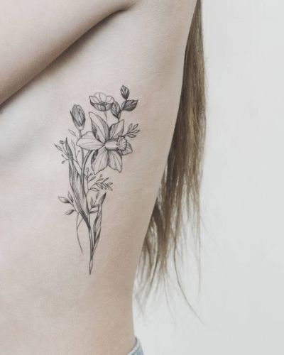 Paperwhite Narcissus Tattoo 1000 Birth Flower Tattoos Narcissus Flower Tattoos Daffodil Tattoo