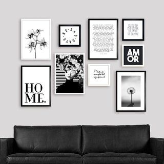 Kit White Back Gallery Wall Black White Photo Wall Gallery Wall Frames