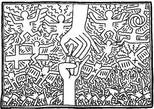 Simple Keith Haring Coloring Page Keith Haring Art Keith Haring