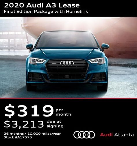 2020 Audi A3 Lease Final Edition Package With Homelink Audi Audi Dealership Audi A3