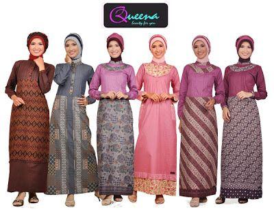 Mencoba Berjilbab Baju Batik Muslim  Hijab Batik  Pinterest