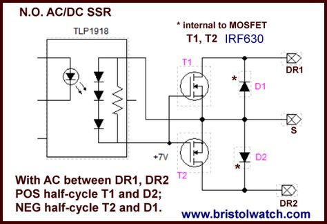 Photovoltaic optocoupler driving two MOSFETs for ACDC operation