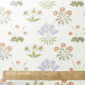 Oilcloth Fabric By The Half Metre William Morris Lily Floral  Pvc