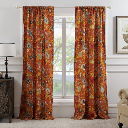Global Trends Amanda Curtain Panel Set Of 2 Red Panel Curtains