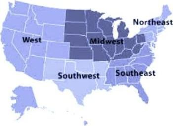 5 Regions of the United States for kids ***. Kids can explore. | HET on