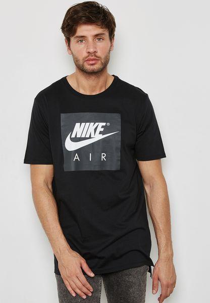 Nike Sportswear Air Logo Mens T Shirt Black Size M Casual