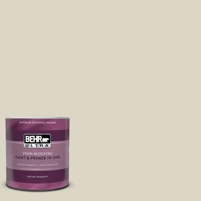 Behr Ultra 1 Qt Ppu8 15 Stonewashed Eggshell Enamel Interior Paint And Primer In One 275004 Exterior Paint Interior Paint Paint Primer