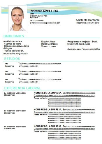 Hoja De Vida Creativa Azul Formatos Hoja De Vida Cv Words Cv Design Template Cv Template Download