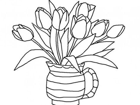 Gambar Bunga Dahlia Kartun Adult Coloring Pages Bunga