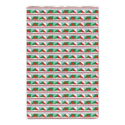 The Holiday Aisle Festive Block Tea Towel Patterned Tea Towels Orange Hand Towels Tea Towels