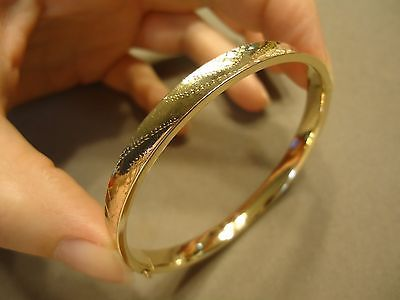 heavy solid and karma gold shiny bangles bracelet classic bangle smooth