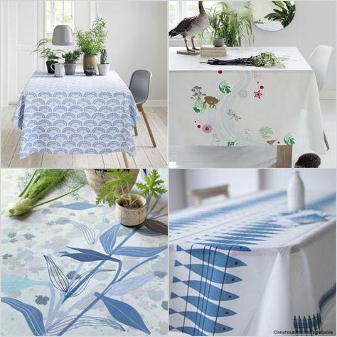 Scandinavian Style Oilcloth Fabric Wipe Clean Tablecloth Scandi Design Per Meter