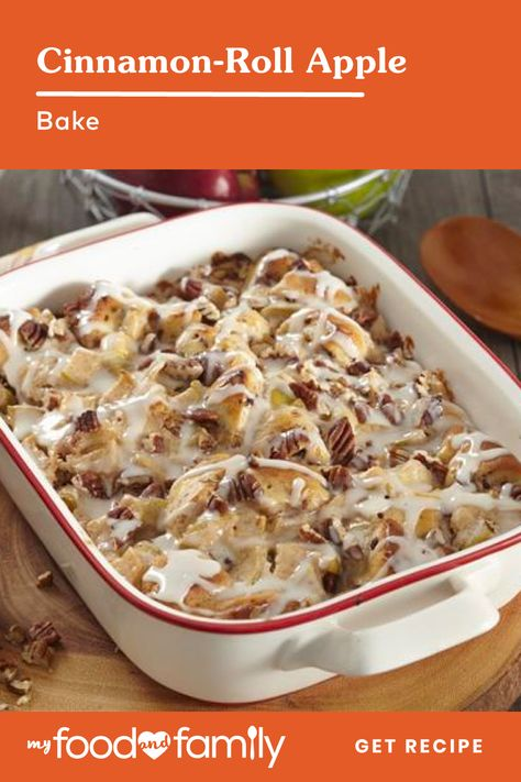 Kraft Recipes, Apple Recipes, Baking Recipes, Brunch Recipes, Breakfast Recipes, Dinner Recipes, Holiday Desserts, Holiday Recipes, Apple Bake