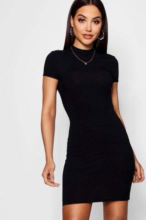 Dress to impress this season with our collection of figure flattering bodycon dresses. Look Fashion, Fashion Outfits, Female Fashion, Black Bodycon Dress, Dress Black, Bodycon Fashion, Long Sleeve Mini Dress, Dress To Impress, Cap Sleeves