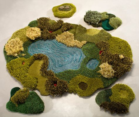 Gorgeous Handmade Rugs Meant to Look Like Wild Landscapes You are in the right place about Handmade Gifts sewing Here we offer you the most beautiful pictures about the Handmade Gifts for couples you are looking for. Textiles, Handmade Rugs, Handmade Gifts, Handmade Headbands, Diy Gifts, Patterned Carpet, Carpet Design, Halloween Cards, Rug Hooking