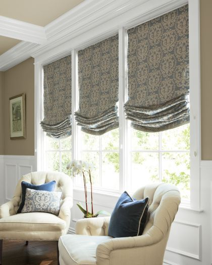 Relaxed Shades Roman Shades Living Room Window Treatments Living Room Living Room Windows