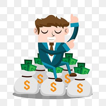 Business Man With Money Money Clipart Business People Png And Vector With Transparent Background For Free Download Cartoon Illustration Money Design Png Images