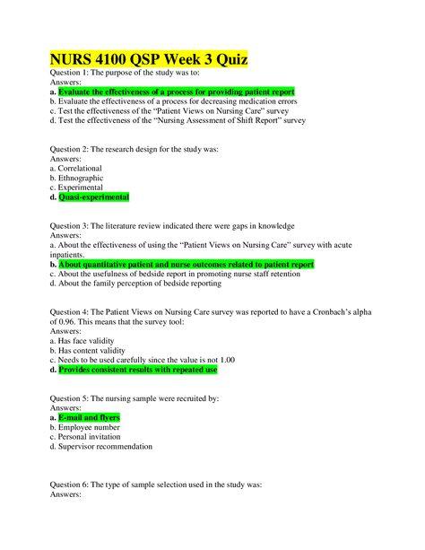 Nurs 4100 Qsp Week 3 Quiz Questions Answers 100 Score Latest Summer 2020 This Or That Questions Survey Tools Nurse