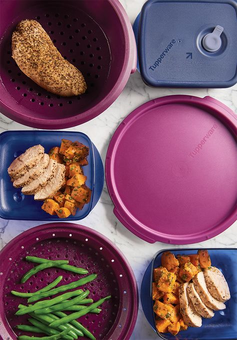 Tupperware® SmartSteamer and Vent 'N Serve® Containers. Delicious microwave meals in minutes.