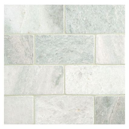 Complete Tile Collection Natural Stone Tiles Ming Green Marble 3 X6 Tumbled Subway Tile Tileideas Interiori Green Subway Tile Tiles Natural Stone Tile