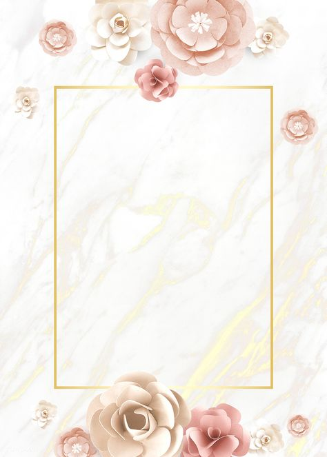 Paper craft flower element card template vector | premium image by rawpixel.com