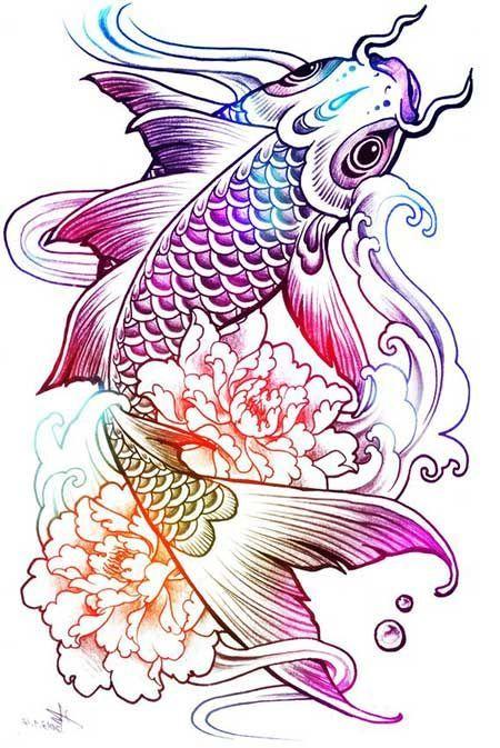 Significado De Tatuagem De Carpa O Que Significa Fish Drawings