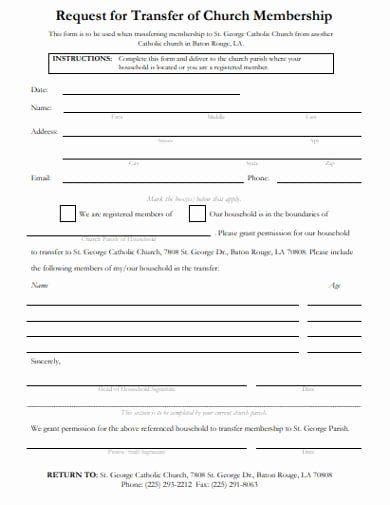 Sample Church Membership Form Template Inspirational Free 13 Church Membership Form Examples Templates Form Example Templates Form
