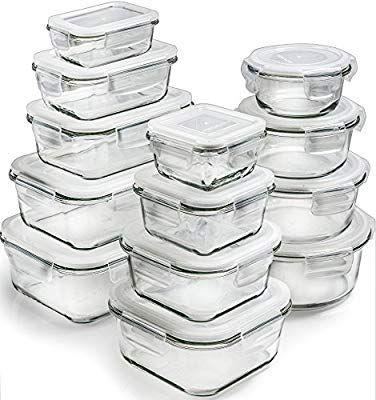 Glass Tupperware Amazon 42 99 Glass Storage Containers Glass