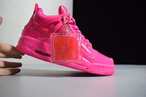 "c1215fb8a926 2019 Air Jordan 4 GS 11Lab4 ""Pink Patent"" Leather For Sale"