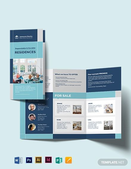 Certified Home Inspector Tri Fold Brochure Template Word Doc Psd Indesign Apple Mac Pages Illustrator Publisher Trifold Brochure Template Brochure Design Template Trifold Brochure