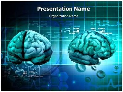 Brain PowerPoint Template Backgrounds - brain powerpoint template