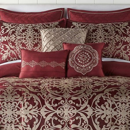 Jcpenney Home Creston 7 Pc Embroidered Comforter Set Comforter