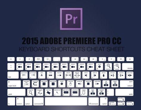 Горячие клавиши | Adobe Premiere | Pinterest | Adobe