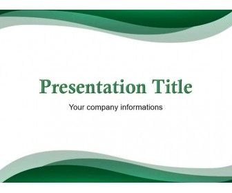 Free Green Abstract Powerpoint Template  Powerpoint Templates