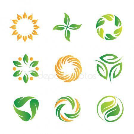 Green Nature Loop Logo And Icon Set For Web Programming And Royal Decoration Sk Ad Logo Icon Loop Green Ad Natural Logo