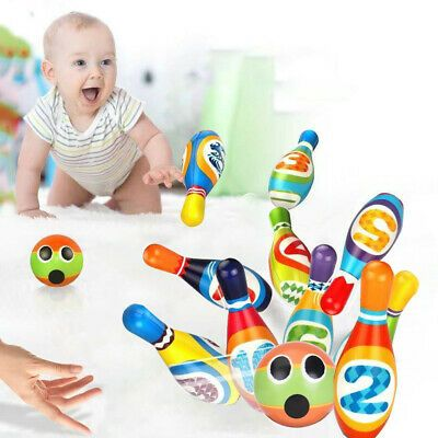 Kids Bowling Toy Set Foam Ball Toys for Children Toddlers Boys Girls age 3 years
